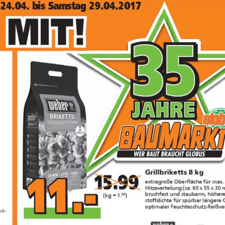 Weber Briketts Globus Bauhaus 8kg