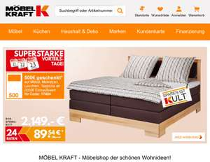 m bel kraft angebote deals mai 2018. Black Bedroom Furniture Sets. Home Design Ideas
