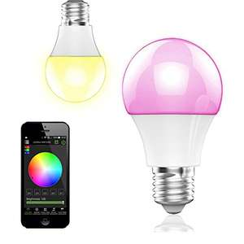 LED Glühlampe E27 Fassung 350 Lumen RGB Birne mit Bluetooth