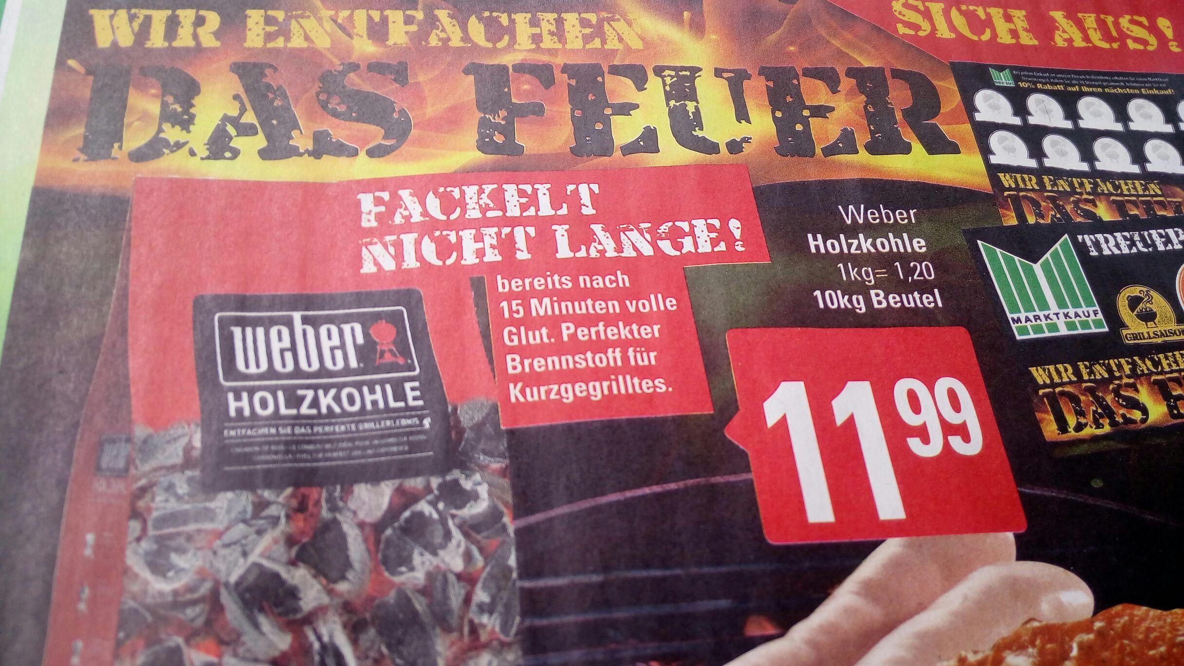 [Marktkauf Herford evtl. Bundesweit] Weber Holzkohle 10Kg