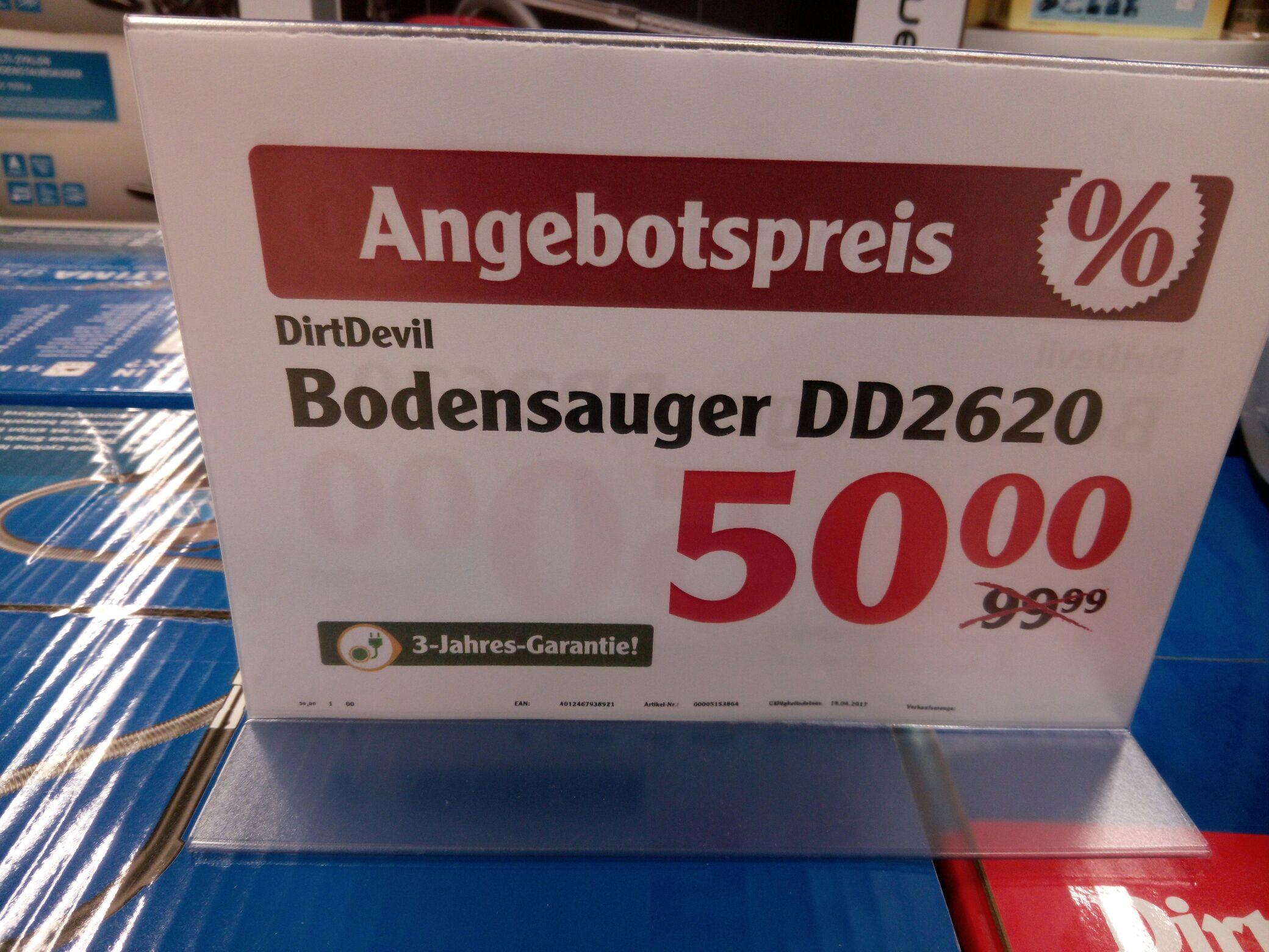 [Globus Wetzlar lokal] Dirt Devil Staubsauger ohne Beutel  DD2620-4