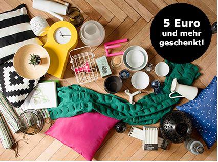 [Ikea online und offline] 5€ Rabatt je 50€ Einkauf von Wohnaccessoires (24.4 bis 14.5)