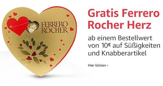 [amazon.de] [prime]  Gratis Ferrero Rocher Herz beim Kauf von Süßigkeiten oder Knabberartikeln im Wert von 10 EUR