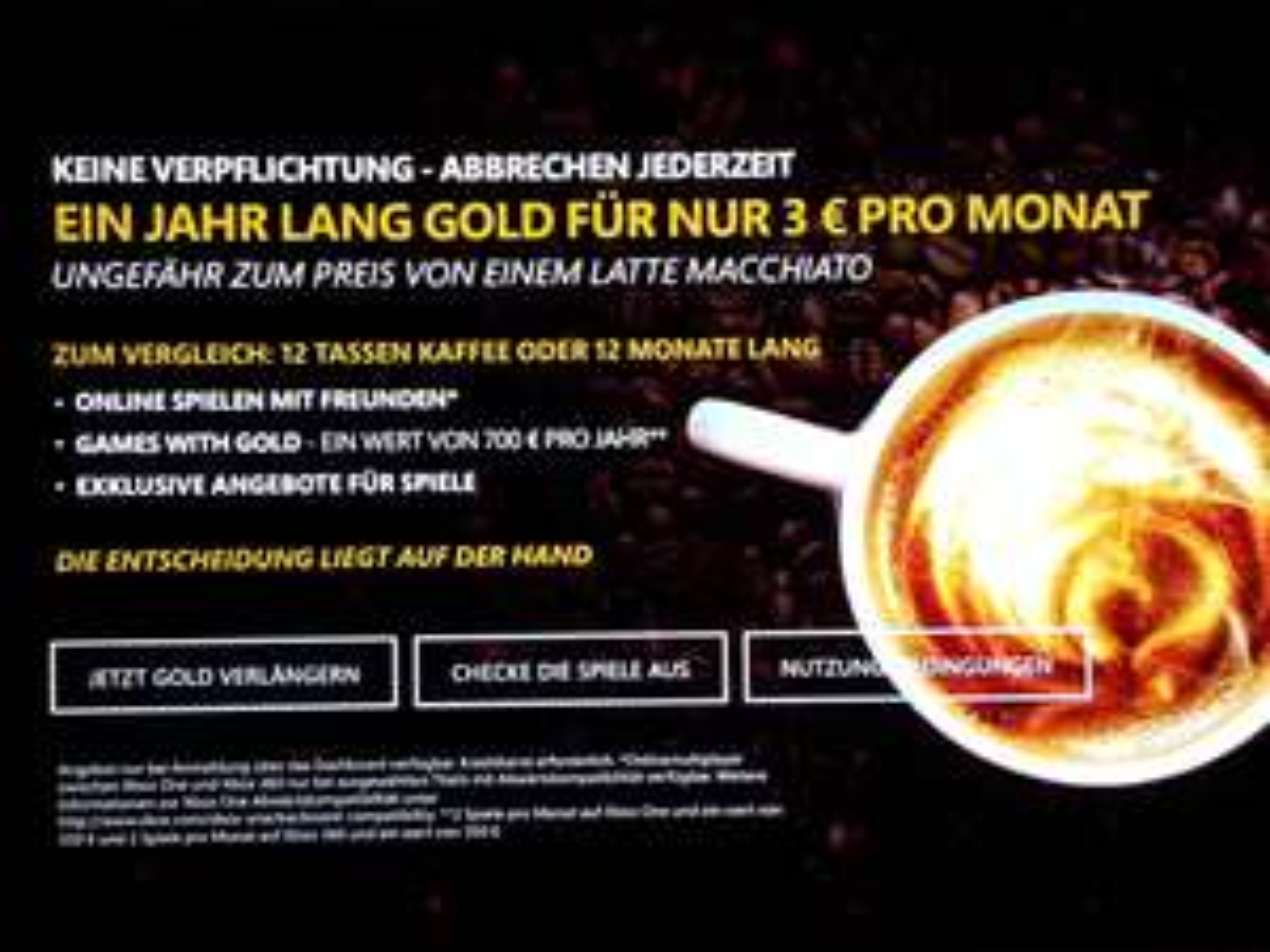 [Nur für Xbox One Besitzer](Nur übers Dashboard)Xbox Live 12 Monate Gold für 36€