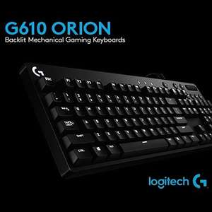 Logitech G610 Orion Red mechanische Gaming-Tastatur (beleuchtet, Cherry MX Red Switches) für 49,99€ [Saturn]