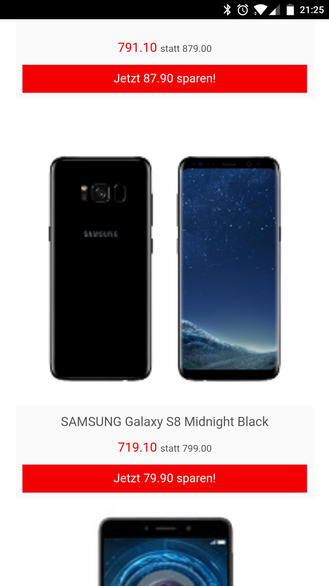 [nur Schweiz + Grenzgänger] Samsung Galaxy S8 für 674 Euro.[interdiscount.ch]