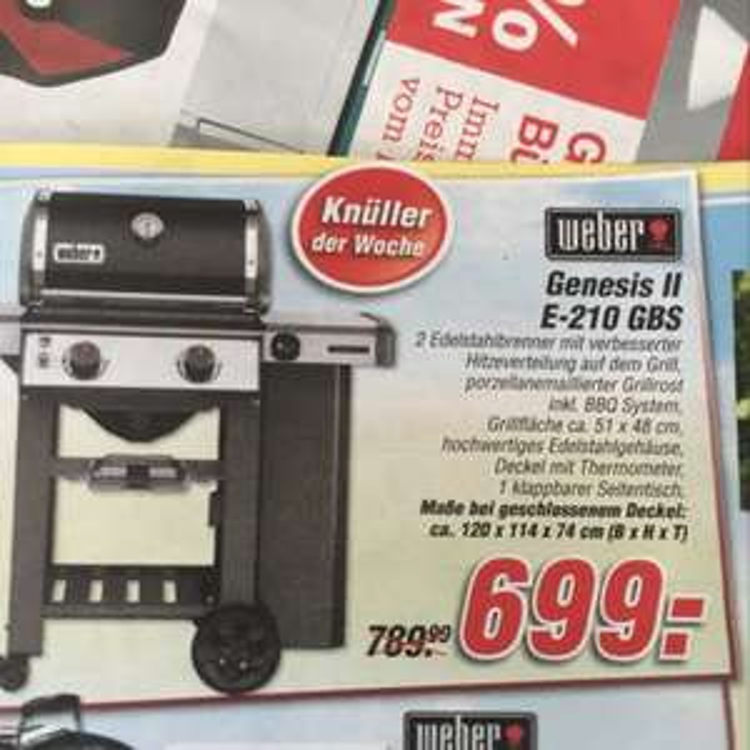 Weber Genesis II E-210 GBS inkl TPG 588,72