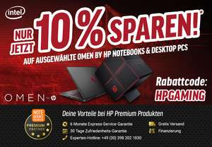 Notebooksbilliger.de Angebot: HP OMEN 17,3 Zoll  Full-HD IPS Gaming Notebook Intel Core i7-7700HQ, 16 GB RAM, 512 GB SSD, NVIDIA GeForce GTX 1070, G-Sync, Windows 10 Home 64 schwarz mit Carbon-Optik ---- (10% auf weitere HP Notebooks / Desktops )