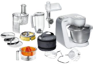 BOSCH Küchenmaschine MUM 54251 STYLINE WEISS/SILBER für 199€ [mediamarkt.at]