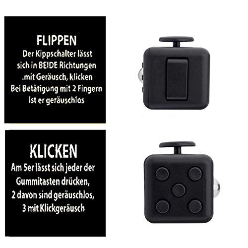 Fidget Cube (schwarz) mit Versand durch Amazon