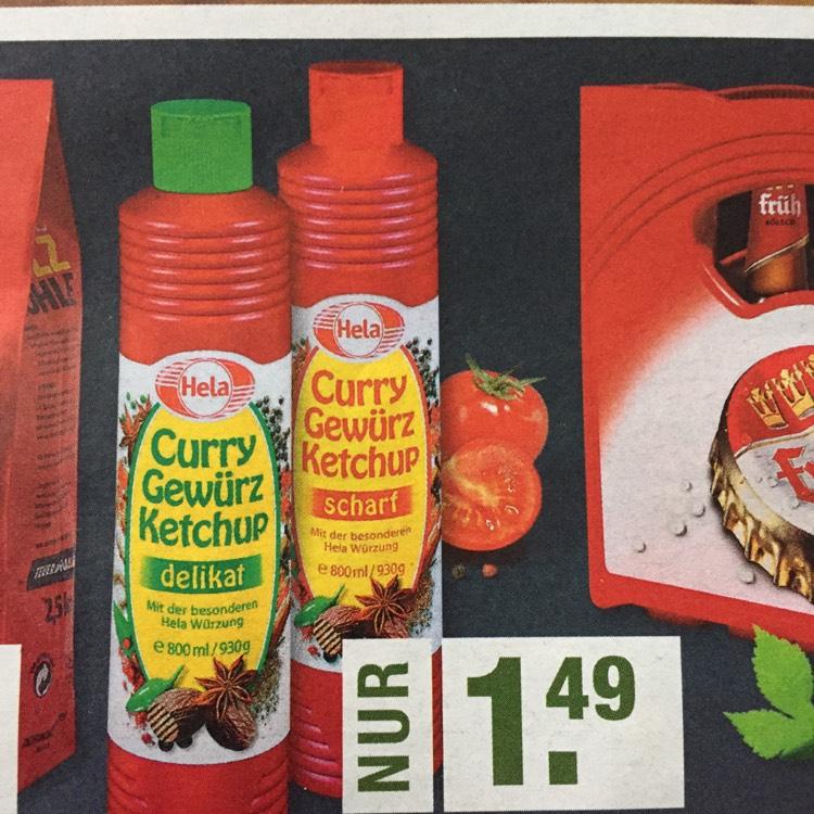 [Edeka Rhein-Ruhr/Kreis Ahrweiler] Hela Curry Gewürz Ketchup