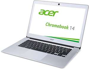 [amazon] Acer Chromebook 14 - CB3-431-C6UD - Notebook (14 Zoll Full HD IPS non-glare, Intel Celeron N3160, 4GB DDR3L, 32GB eMMC, Intel HD Graphics, 802.11ac, USB-A 3.0, 3.950mAh, lüfterlos, Chrome OS) in silber