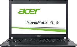 [Amazon] Acer TravelMate P658 (P658-M-547D) 39,6cm (15,6 Zoll Full HD IPS) Notebook (Intel Core i5-6200U, 8GB RAM, 256GB SSD, Intel HD Graphics 520, Win 10 Home) schwarz  für 699€