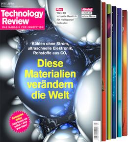 Technology Review - 2 Ausgaben (Print) für 13,20 € mit 10€ Amazon-Gutschein