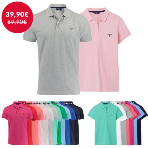 Poloshirts von Gant für Damen und Herren in allen Regenbogenfarben (S-3XL) für 39,90€ statt 60€ @ebay