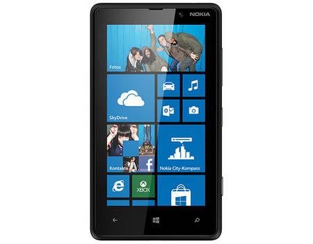 "[Carbonphone / Allyouneed] Nokia Lumia 820, Smartphone, 4G LTE, 8 GB, 4,3"" 800 x 480 Pixel, 8 MP, Windows Phone, Schwarz, Demoware (wie neu)"