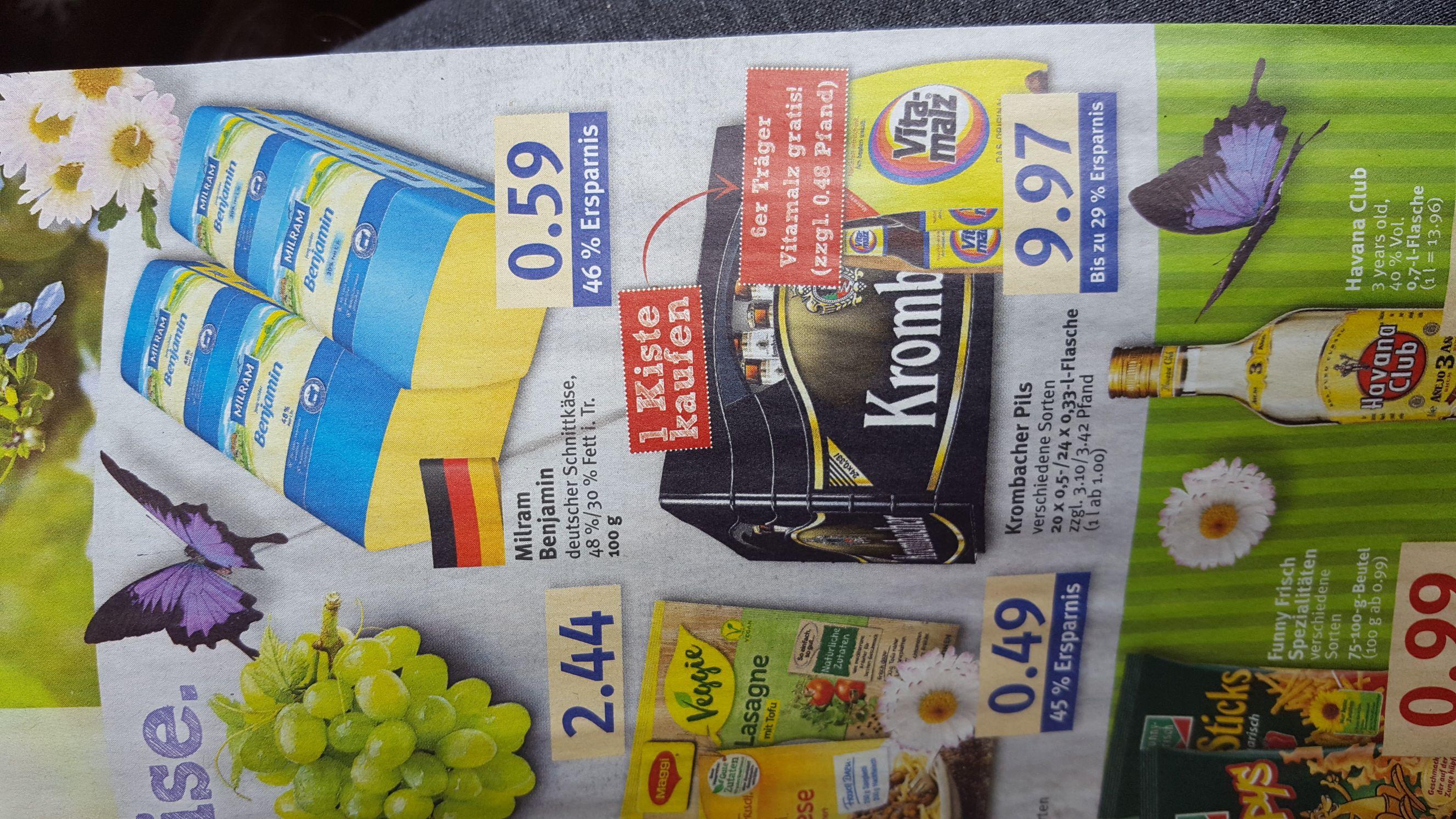 [Combi] Kiste Krombacher (24x0.33 oder 20x0.5) + 6x0.33 Vitamalz
