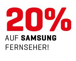 SCHWEIZ: 20 % auf Samsung-Fernseher