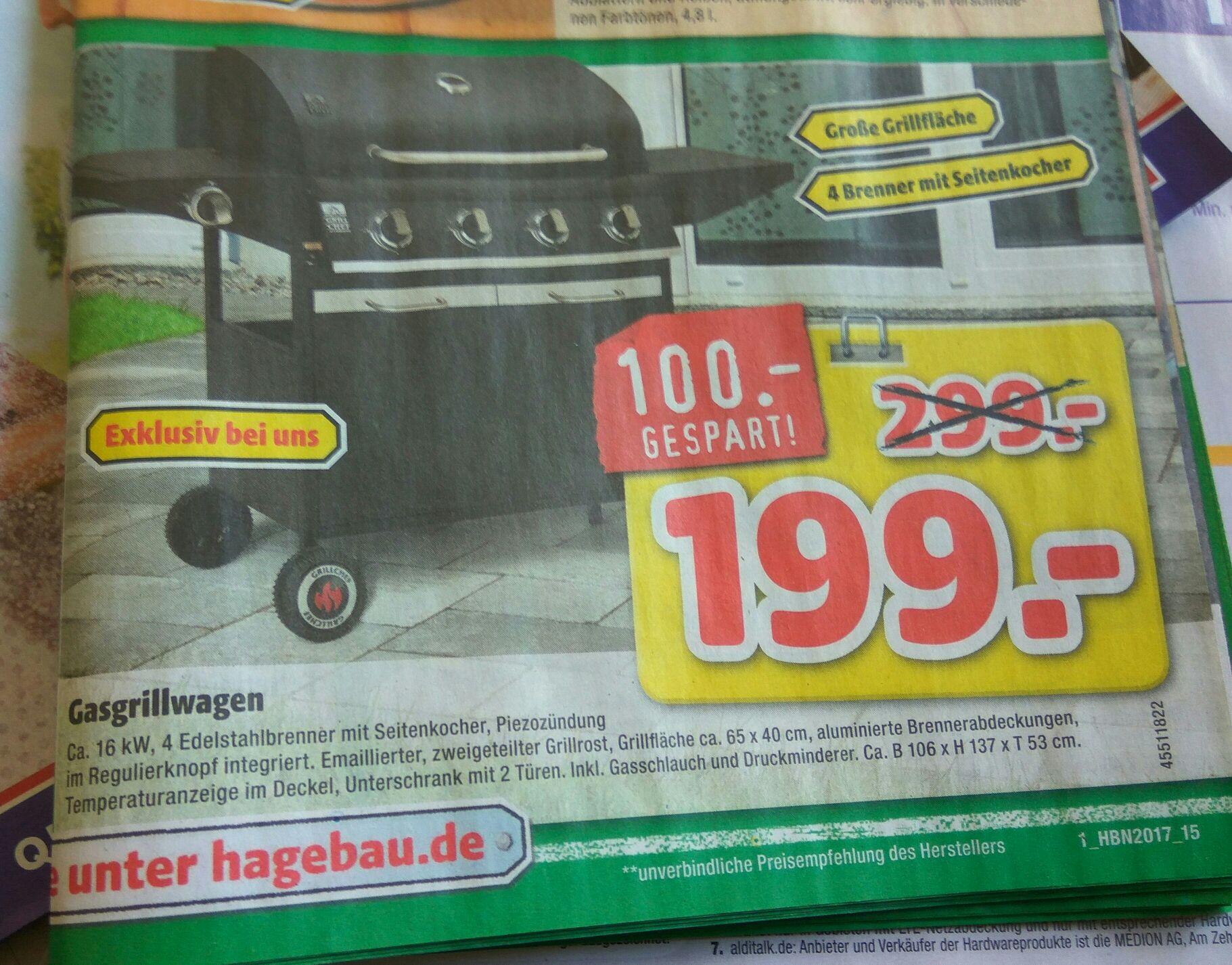 [Hagebaumarkt] Grillchef by Landmann Gasgrillwagen 4+1 Brenner