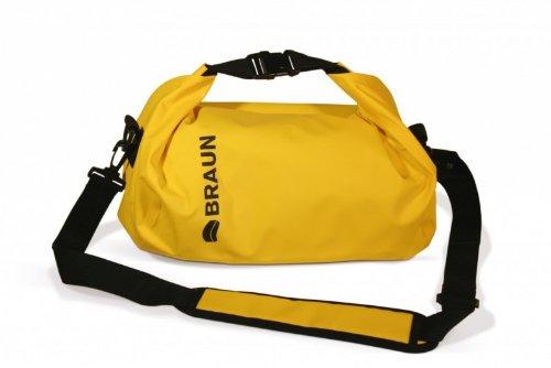 Braun Splash, wasserdichte Tasche, 35x20x40 cm (20+ Liter), 6,36€ statt ca. 20+ €, Amazon Prime