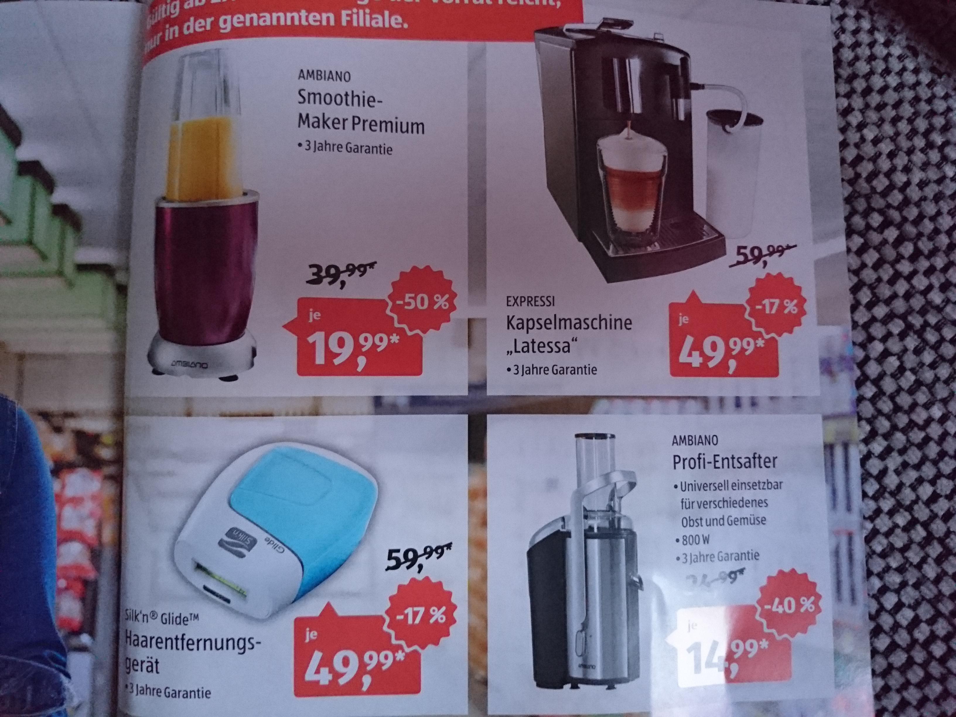 ALDI Bonn - Profi Entsafter 14,99€ und Smoothie Maker 19,99€ - Ab 27.04.