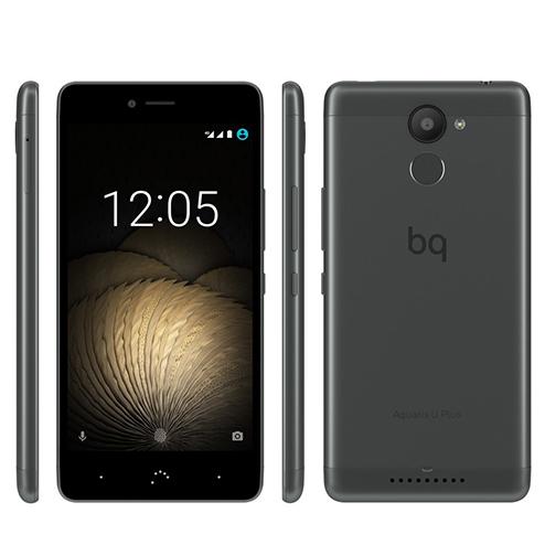 BQ Aquaris U Plus black grey, Snapdragon 430, 3GB RAM, 32GB (erweiterb.), Android 7.1.1 (Update) für 167€ im T-Online Shop