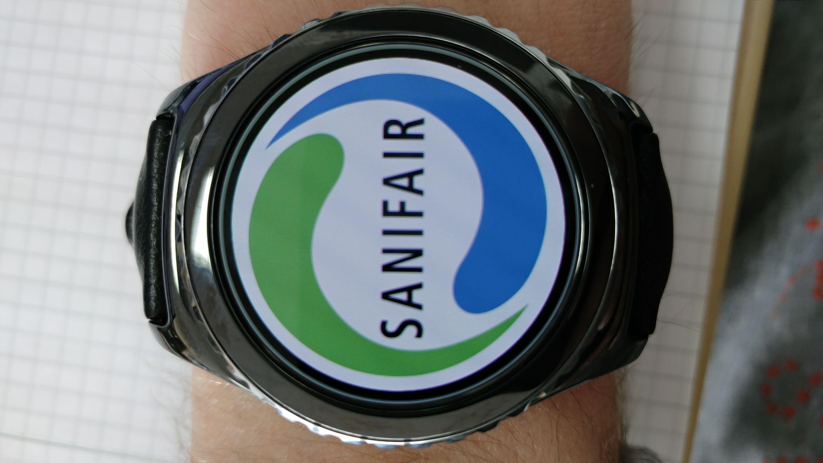 25 mal Sanifair Nutzung gratis mit Samsung gear s3