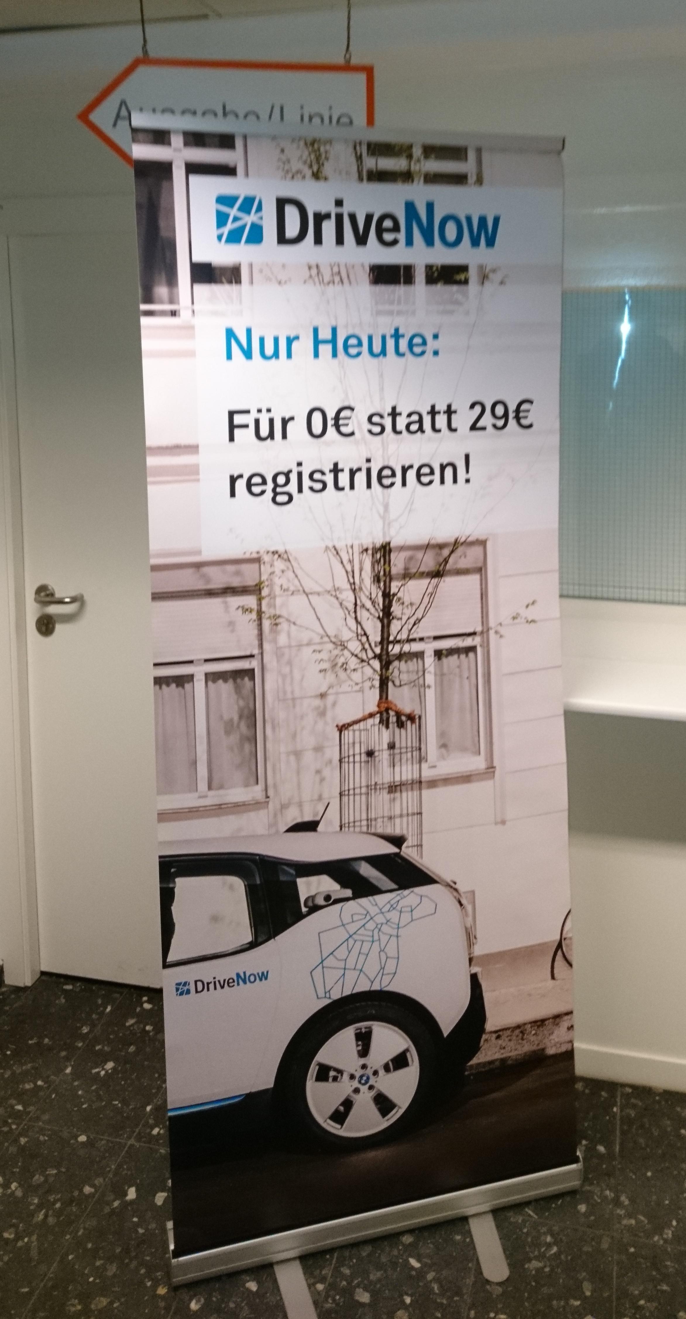 [Hamburg] DriveNow Anmeldung Gratis + 30 Minuten