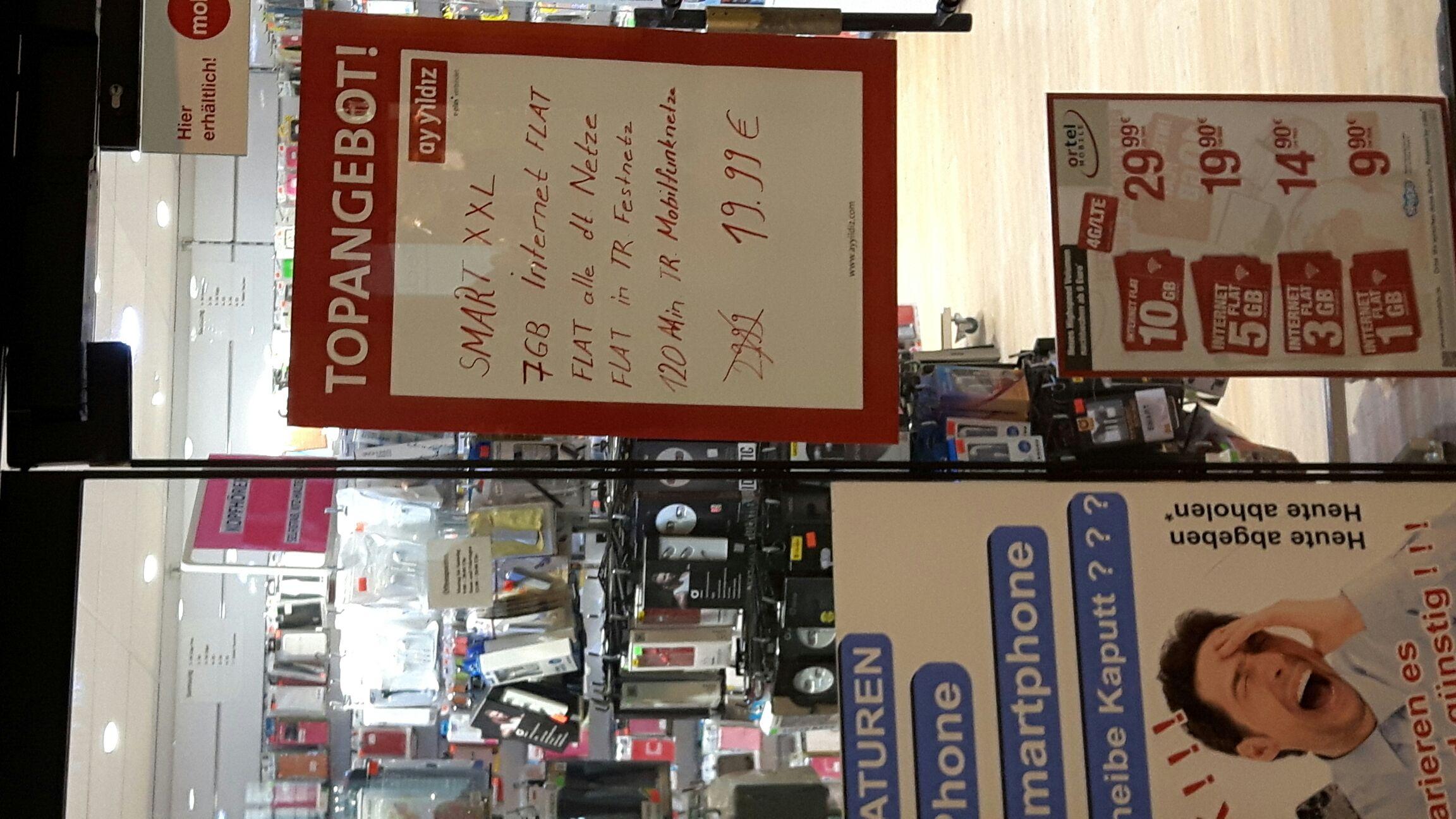 [Lokal Stuttgarter Hauptbahnhof] Festnetzflat + 7GB + Türkeifestnetz + 120 Minuten ins Türkische Mobilnetz für 19,99€ pro Monat