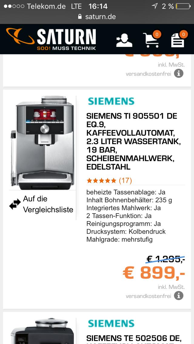 Siemens Vollautomat TI 905501