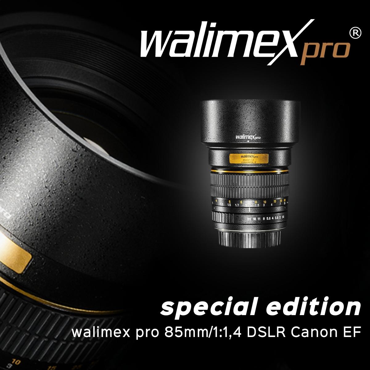 walimex pro 85/1,4  DSLR Canon EF - 30% reduziert