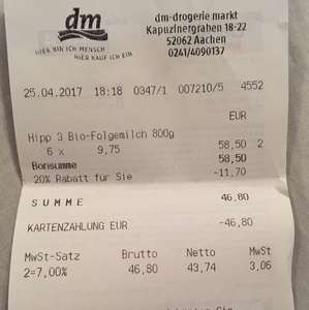 [DM] Hipp 3 Bio-Folgemilch 800g