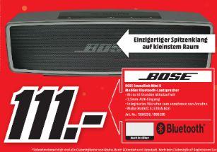 [Lokal Mediamarkt Gütersloh und Lippstadt] Bose SoundLink Mini II Bluetooth speaker - Carbon oder Silber für je 111,-€