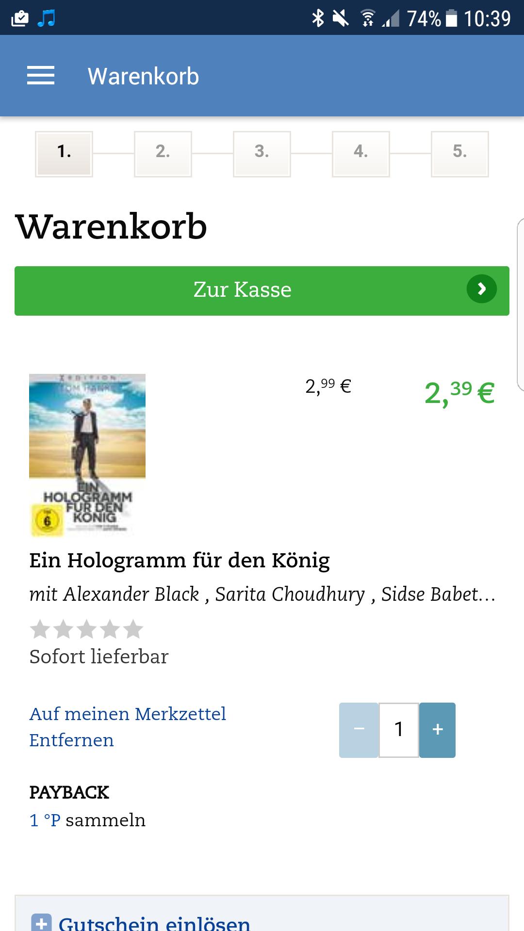 Tom Hanks - Ein Hologramm für den König DVD ( Thalia App)