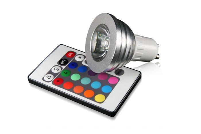 Technaxx RGB LED GU10 Multicolor-Spot mit IR-Fernbedienung für 7,12€ bei top12