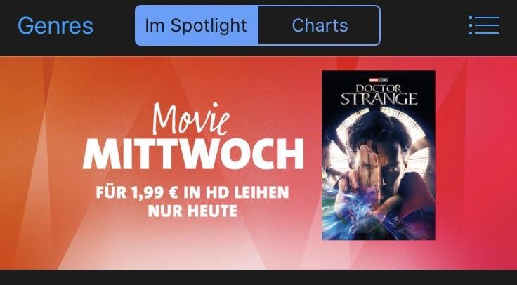 [iTunes Leihfilme] Marvel's Dr. Strange (2016) als HD Leihfilm Deutsch/Englisch [nur heute]