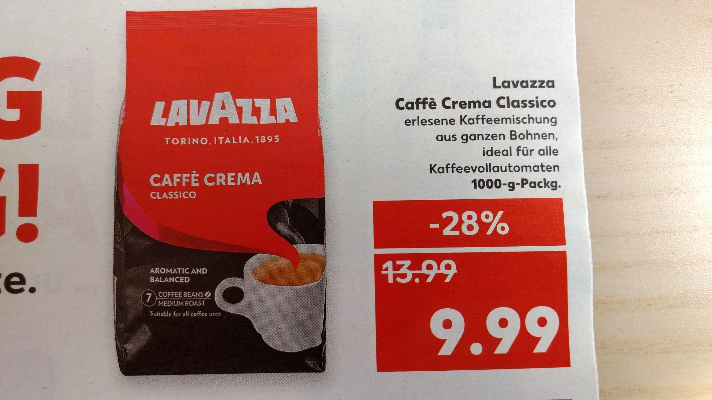 [Kaufland] Lavazza Caffé Crema Classico 1kg