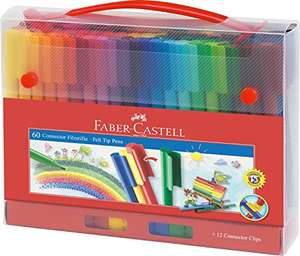 [Amazon Prime] Faber-Castell 155560 Filzstift Connector in Koffer, 60-teilig