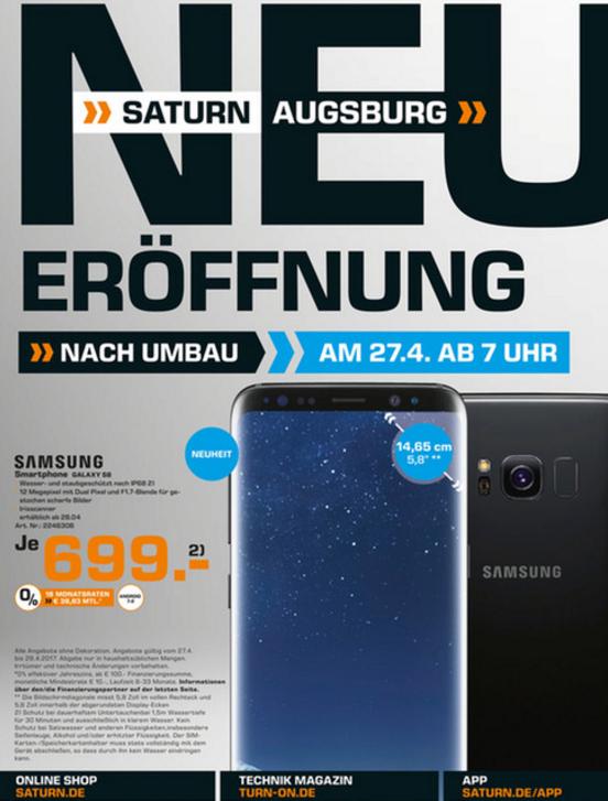 Samsung Galaxy S8 (Lokal Saturn Augsburg)