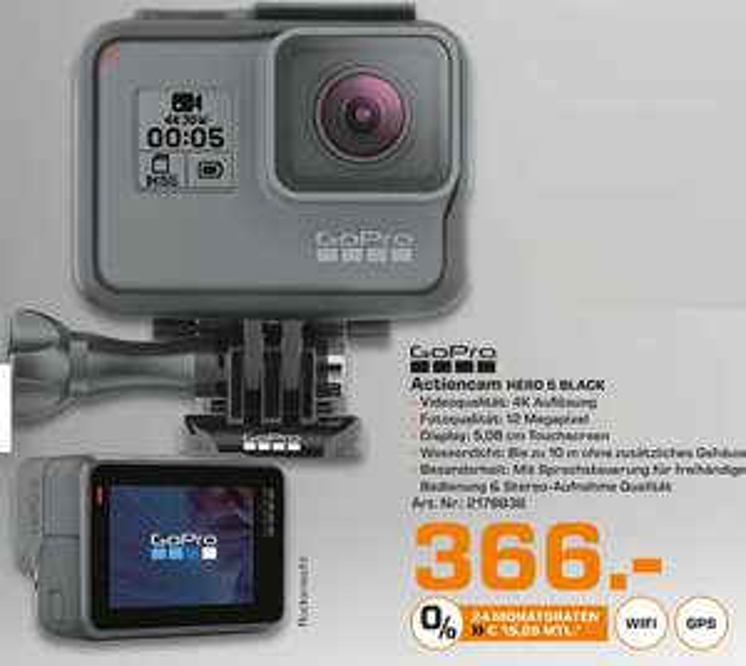 Go Pro Hero 5 Black Action Cam - Saturn Augsburg (lokal