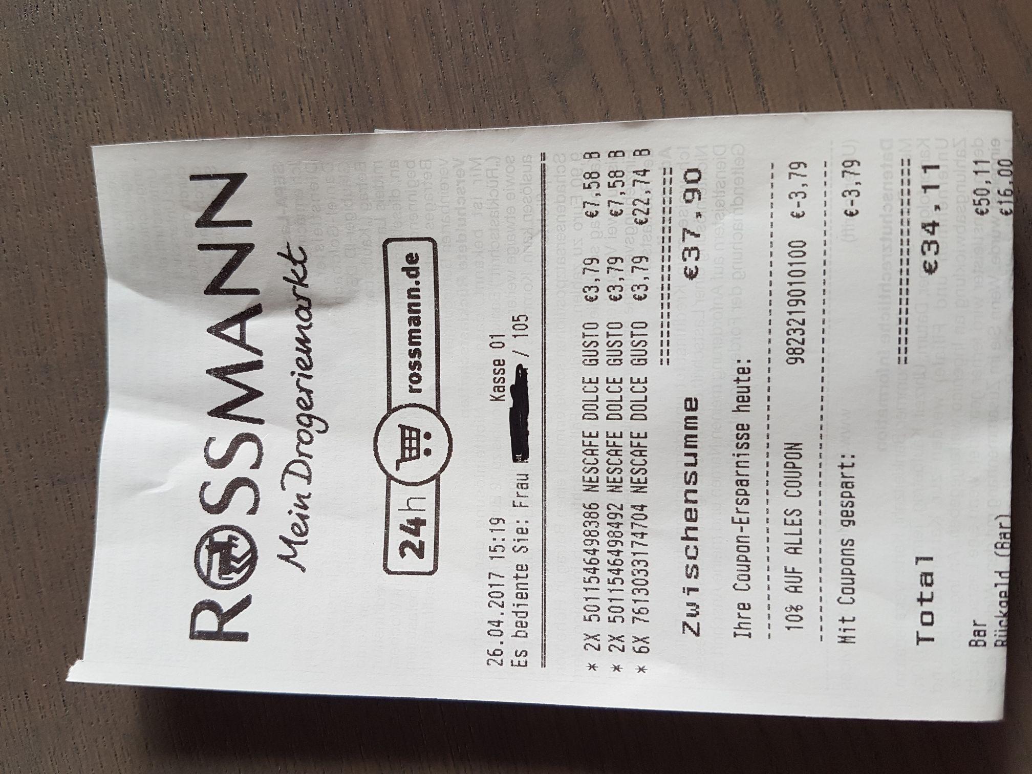 [Rossmann] Nescafe Dolce Gusto [3,41 Euro]