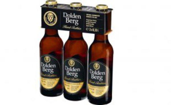 [NETTO ohne Hund] Dolden Berg Bier Pils, versch. Sorten, 6,2 bis 7,9% vol, 0.49 Euro 3-er Pack / 0.163€ pro 0.33 L