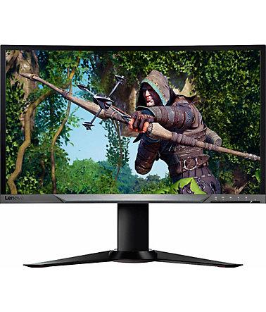 [Schwab] Lenovo Y27g 68,58 cm (27 Zoll Full HD matt) Curved Monitor (HDMI 1.4, DisplayPort 1.2, 4 ms Reaktionszeit, G-Sync, 144 Hz, neigbar, höhenverstellbar, drehbar)