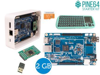 Pine A64+ Einplatinencomputer (2GB RAM) inkl. Zubehör (Netzteil, Gehäuse, Tastatur inkl. Touchpad, Wlan-Modul) für 75,90€ [Ibood]