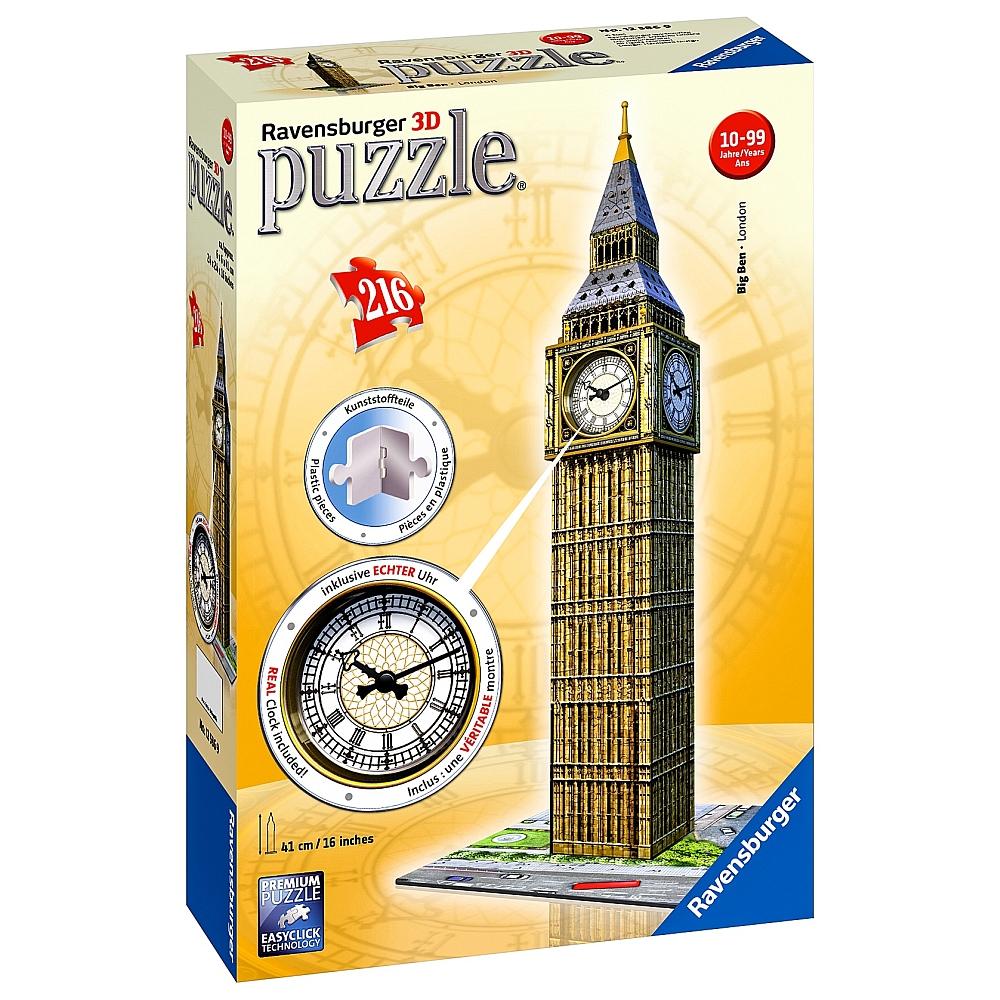 Ravensburger Big Ben 3D Puzzle mit echter Uhr für 14,98€ bei Abholung @ToysRUs