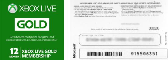 Xbox Live Gold Mitgliedschaft 12 Monate für 37,79.-€