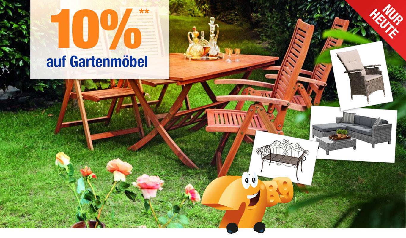 [Plus.de] 10% Rabatt auf  Gartenmöbel