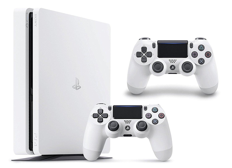 PS4 Slim 500GB in weiß + 2. Dualshock 4 v2 für 255,80€ [Amazon.fr]