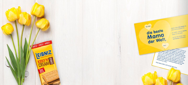Leibniz: 2 Kekspackungen gratis.DEIN MUTTERTAGS-GRUSS DIE LECKERSTE ART, DANKE ZU SAGEN