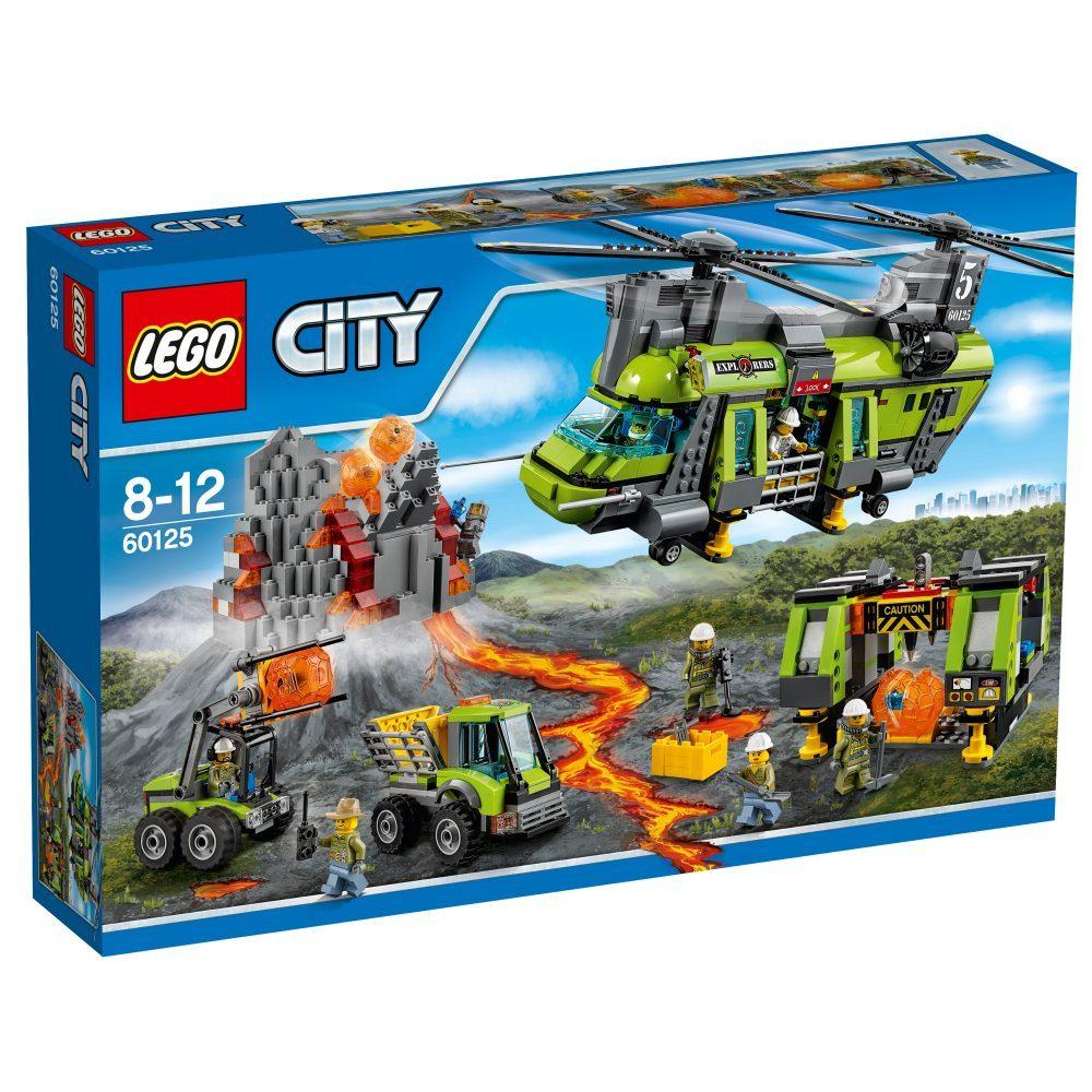 LEGO City  Vulkan-Schwerlasthelikopter 60125 für 71,90€ [interspar.at]